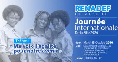 Journée Internationale de la Fille: Le RENADEF mobilise les jeunes  filles pour faire entendre leur voix.