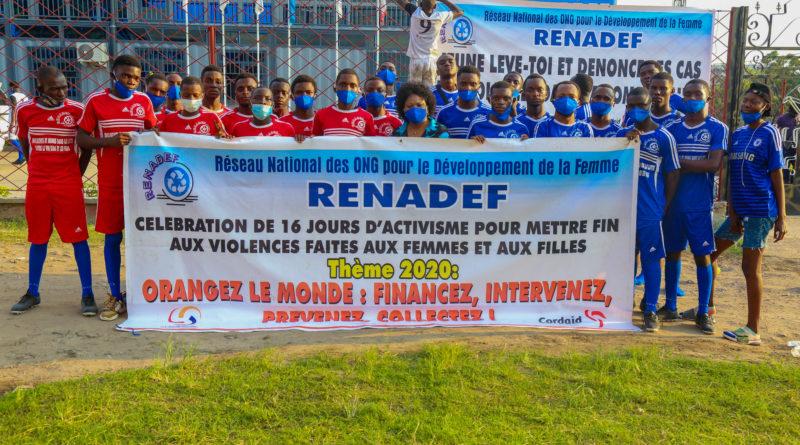 16 Jours d'Activisme de 2020, le RENADEF organise un tournoi de football afin de soutenir les actions de lutte contre violences faites aux femmes et aux jeunes filles